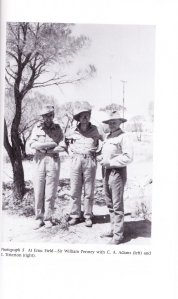 Bill Penney in center, at Australian bomb tests