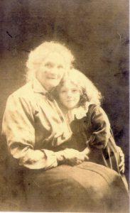 Granny (Annie Elizabeth Rainbow) and Lorna, about 1921