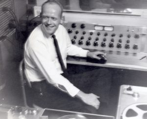 Bob Arnold at the recording controls in EMI's Abbey Road studios in the early 1950s