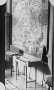 Interior of Cheyne Walk. The clavichord was made by Tom Goff and J.C. Cobby.