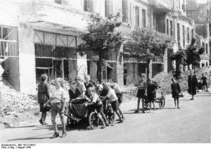 Children in Berlin clearing rubble, 1945