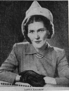 Lorna Rainbow, from an article in the Baltimore Sun 1948