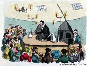 Anderson's Institute Lecture, Glasgow, 1825 The posh school