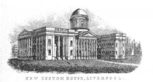 Liverpool Customs House, 1842